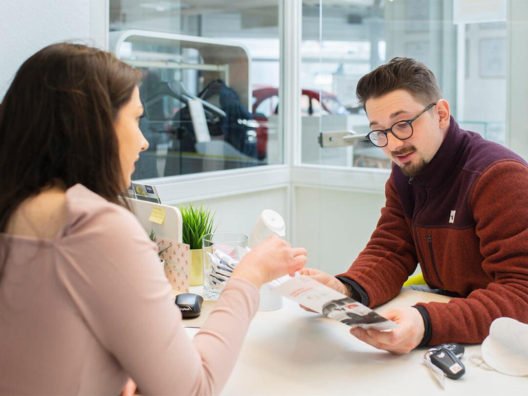 Bewerbung Gespräch im Autohaus Wülpern