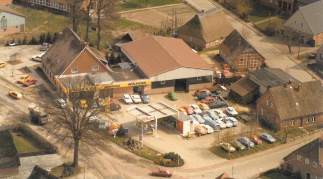 Luftbild 1979 Autohaus Wülpern