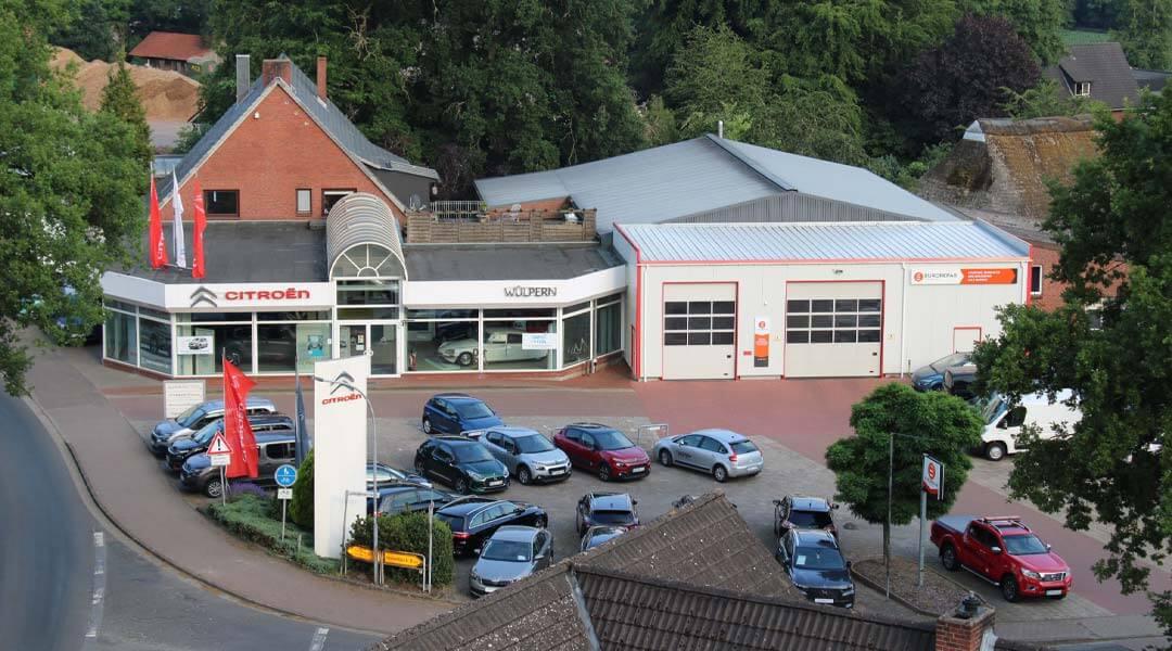 Luftbild 2020 Autohaus Wülpern